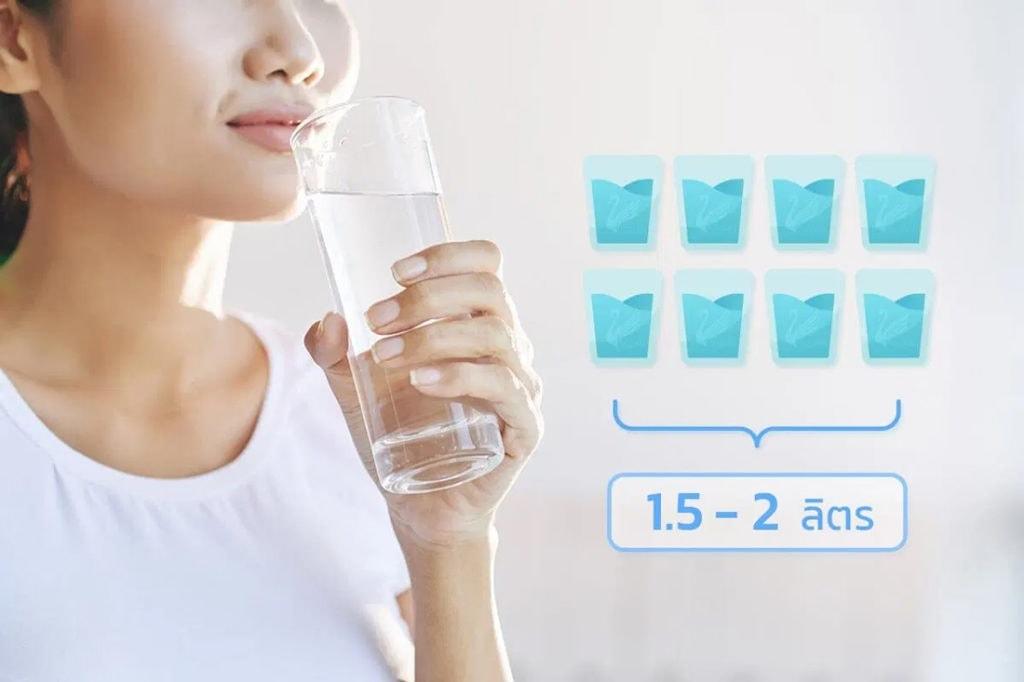 ฉีดฟิลเลอร์ใต้ตา-ควรดื่มน้ำมากๆ